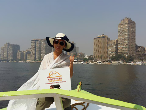 Felucca on the Nile River happy clients