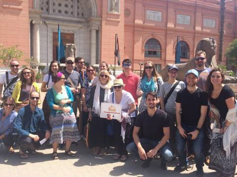 Egyptian museum happy clients