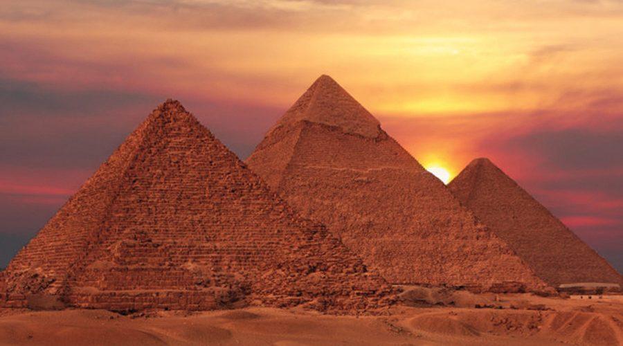 pyramids-sunset